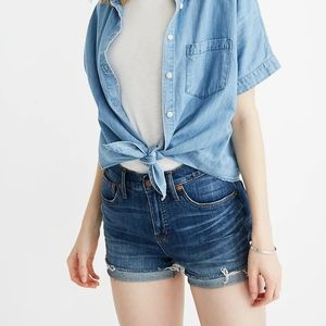 Madewell Rolled Cuff Denim Shorts Size 26